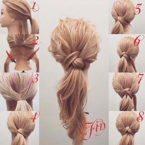 DIY Loop Ponytail Hairstyle