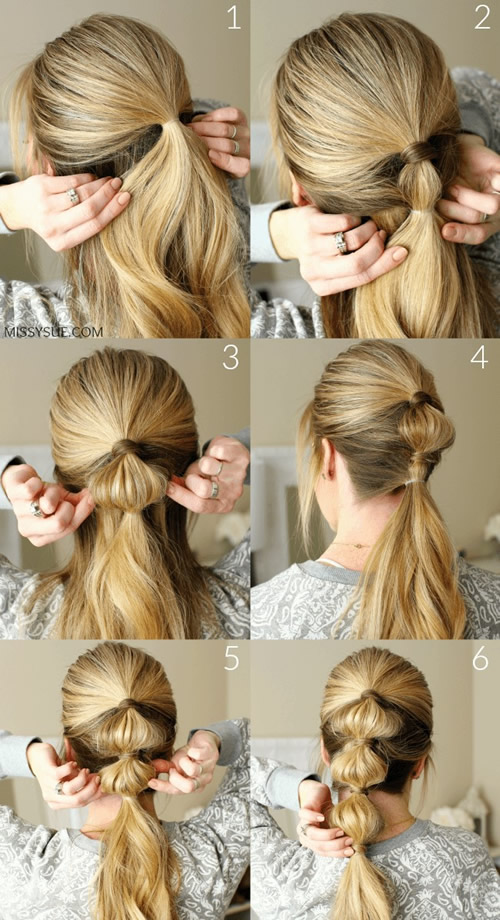 Bubble Ponytail Hairstyle
