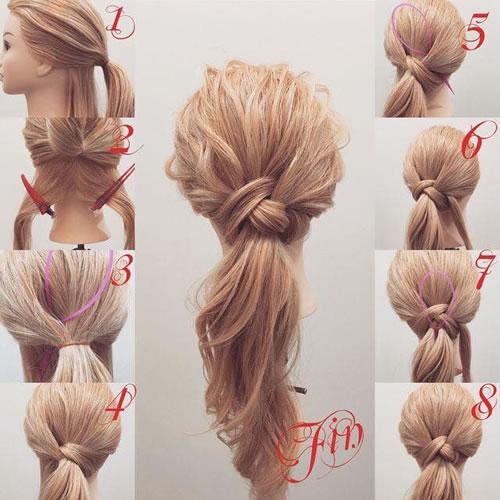 DIY Loop Ponytail Hairstyle