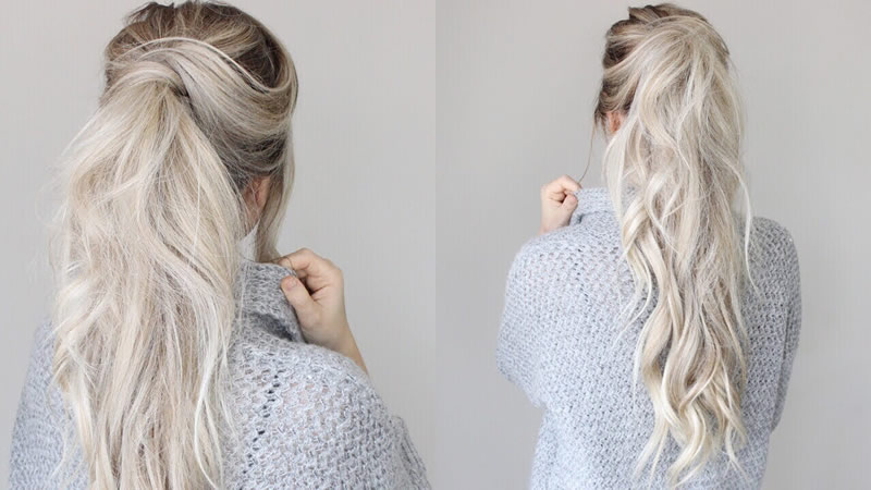 Messy Ponytail Tutorial Hairstyle