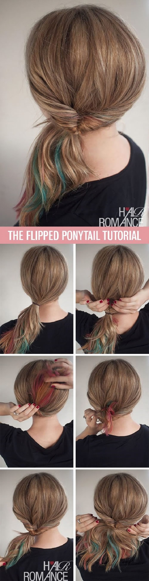 Flipped Ponytail Hairstyle