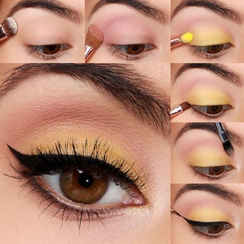 Yellow Eyes Makeup