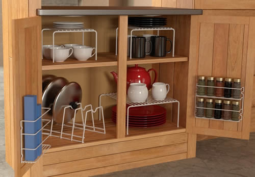 Grayline 6-Piece Cabinet Organizer Set