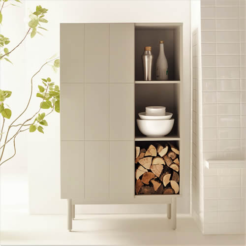 MoDRN Scandinavian Link Single Door Cabinet