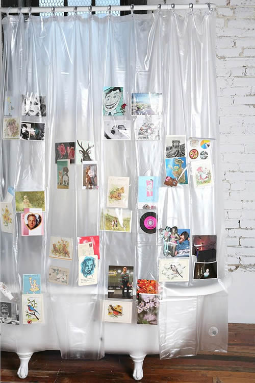 Urban Outfitters Clear Pocket Shower Curtain Liner