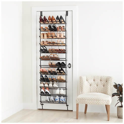 Urban Outfitters Metal Over-the-Door Shoe Rack
