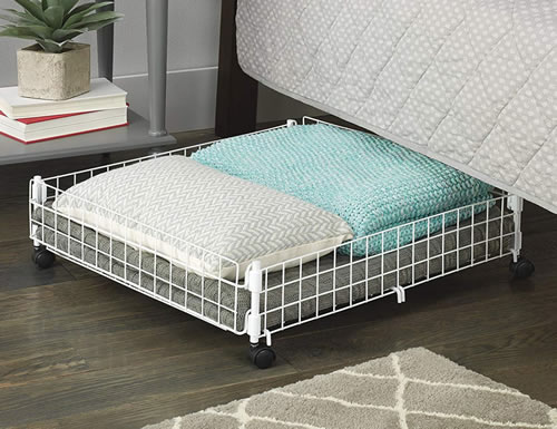 Urban Outfitters Under-the-Bed Rolling Storage Shelf